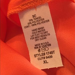 IC Tops - IC Top in Coral. Includes camisole